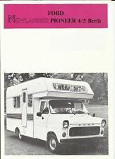 NEWLANDER FORD PIONEER 4/5 BERTH MOTORHOME SALES 'BROCHURE'/SHEET LATE 70's