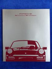 Porsche 911 Carrera Typ 964 MJ 1990 - Prospekt Brochure 08.1989