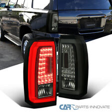 For 15-18 Chevy Tahoe Suburban Glossy Black Tail Lights LED Parking Brake Lamps