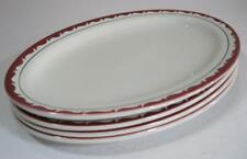 Vintage art deco oval platter x 4 Grindley hotel ware England