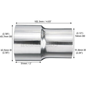 """2"""" To 2.5"""" Inch Weldable Turbo Exhaust Reducer Adapter Pipe Stainless Steel AU"""