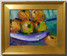 JOSE TRUJILLO FRAMED IMPRESSIONISM PLEIN AIR OIL PAINTING FRUIT STILL LIFE 0025