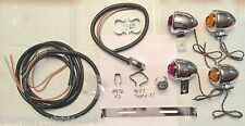 Harley Guide DH-49 Bullet Lamp Turn Signal Kit '36-61 Panhead 6V W/ Rear Bracket