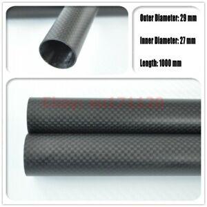 Tube 3k Carbon Fiber OD 29mm X ID 27mm Tube Thickness 1.0mm - Langth 1000mm Matt