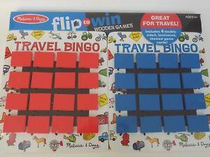 Melissa & Doug Flip To Win Travel Bingo Wooden Game Toys Kids New Sealed for 2