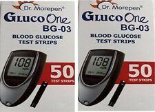 Dr Morepen BG03 100 Test Strips Expiry Jan2020 No Meter (Rs. 1099 only)
