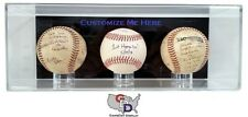 Custom 3 Three Baseball Display Case Acrylic Wall Mount Create Your Own Text