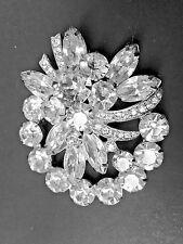 Vintage Signed Eisenberg Ice Rhinestone Pin or Brooch (K-2-1)