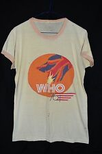 The WHO 1976 Original Authentic Concert Tour Ringer T-Shirt By Numbers Men's S/M
