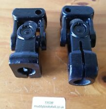 Defender upper and lower steering column universal joints NRC7387&NRC7704