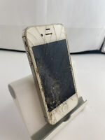 Faulty Cracked Apple iPhone 4s White IOS Smartphone