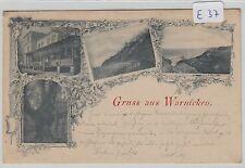 1733, Warnicken schöne frühe 4 Bild Karte gelaufen 1898 !
