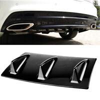 "Car ABS Spoiler Rear Shark Fin Style Curved Bumper Lip Diffuser 3 Fin SUV 14""x6"""