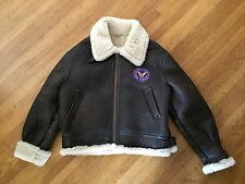 Vtg B-3 BOMBER Coat Jacket Army Air Force Excelled FLIGHT Leather SHEEPSKIN Xl