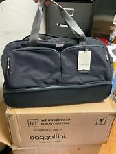 Brand NEW Baggallini Rolling  Carry-On Duffle Bag Wheeled Luggage Black 21""