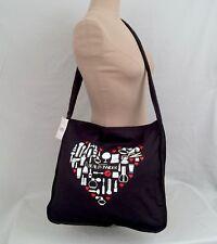 Sephora VIB ROUGE Makeup Heart Tote Bag Black Crossbody large canvas cotton soft