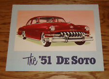 Original 1951 De Soto Custom Line Sales Brochure 51 Sedan Convertible Wagon