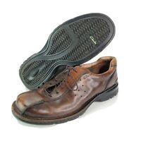 Clark's Mens 10.5 M Lace Up Brown Leather Oxford Casual Dress Shoes 79081