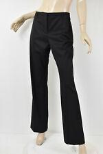 NWT $845 JIL SANDER Solid Black Sheen Stretch Wool HENRY Trousers Pants 42 M 10