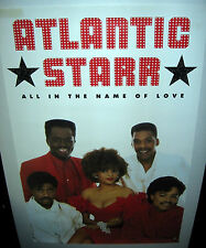 """ATLANTIC STARR All In The Name Of Love (1987 US 23 x 35 """"In-Store Only"""" Poster)"""