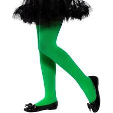 Bambini Costume Collant Coprenti Verde Calze da 6-12 Anni Smiffys Nuovo