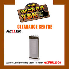 Heller 2000W Ceramic Fan Heater with Oscillating Base HCFH2000 FREE SHIPPING