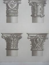 Jean BERAIN base de COLONNES LOUIS XIV GRAVURE décoration ADAMS XIXéme