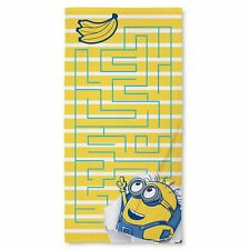 DESPICABLE ME MINIONS AWESOME TOWEL - KIDS BATH / SWIM / BEACH OFFICIAL NEW