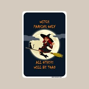 Witch Parking Only Halloween decoration novelty aluminum sign