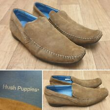 HUSH PUPPIES FLYNN 12886 320 BROWN SUEDE LEATHER SLIP ON MENS SHOES SIZE 11