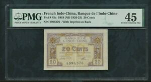 1919    pick 45a   20 cents   French Indo-china / Viet Nam   PMG 45