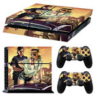 Skin Sticker For Sony Playstation PS4 Console Controller Decal Cover Skin Set