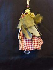 "Kelly Paulk Silvestri ~ Fabric Resin Rose Tassel ~ Ornament Decor ~ 7"" ~ NWT"
