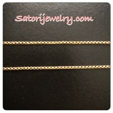"14K Yellow Gold Box Chain 16"" Solid Free Shipping in US! Made In Italy 3.0 Grams"
