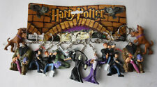 12X RARE HARRY POTTER FIGURE KEYCHAINS KEY RING HOLDER IN CARD NEW NOS !