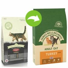 2 x 10kg James Wellbeloved Adult Cat - Turkey - Two Economy Pack