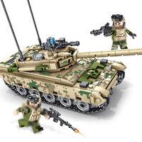432pcs Militär Panzer Gepanzerter Modell Bausteine mit Armee Soldat Figuren Toys