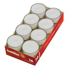 16-192 Stück Bolsius Maxi Teelichter Acryl Cup 9 Stunden 56x27mm Maxi Lichter