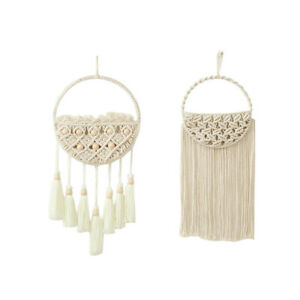Woven Wall Hanging Dried Flower Net Bag Holder for Wall Home Room Decoration NEW