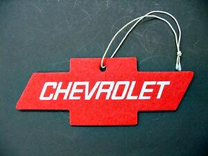 Chevy Red Berry Air Cleaner Freshener Interior Mirror Dashboard Emblem Visor SS