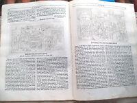 1842 FERRARA L''ALBUM DI ROMA' RIVISTA XILO PALAZZO SCHIFANOIA E BORSO D'ESTE