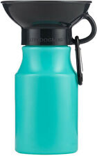 Highwave AutoDogMug Leak Tight Mini BPA Free Dog Water Bottle, 15oz (Seafoam)
