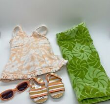 American Girl Molly's 1944 Swimsuit Swim Suit Ball Towel Shoes Glasses