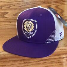 ORLANDO CITY SC SNAPBACK HAT purple white meshback trucker MLS soccer men/women