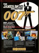 "The James Bond Collection 007 ""Domark"" 1991 Magazine Advert #5609"