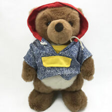 "Gund Collector's Classic Brown Teddy Bear Plush 11"" Blue Red Hoodie Shirt 1991"