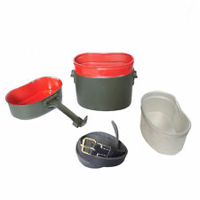 WW2 German M31 Type Mess Kit Tin Red Inside Late Version Military Army