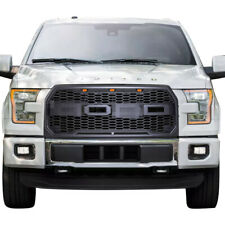 Raptor Style Conversion Front Grill for Ford F150 2015- 2017 w/ Amber LED Lights