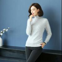 Womens Slim Long Sleeve Turtleneck Sweater Slim Fit Pullover Cashmere Tops V628