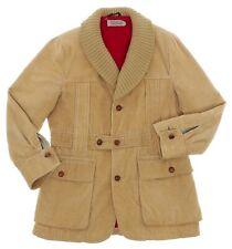Vintage CORDUROY Jacket BERGDORF GOODMAN Blazer XS-S Mens Cord VTG Belted Coat